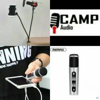 Microphone - RMK-K02 + stand fleksibel mic + pop filter + Holder HP