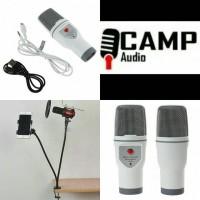 mic SF-690 + stand fleksibel mic + pop filter + Holder HP