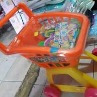 trolley set/mainan keranjang dorongan belanja/mainan edukasi