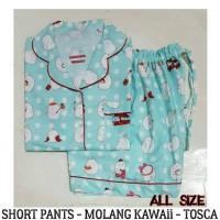 Baju Tidur Piyama Dewasa - Molang Kawaii Short Pants Pajamas