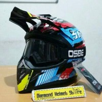 harga Paket Helm Cross Jpx Seven Days Black Blue Goggle Osbe Black Tokopedia.com