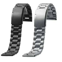 Tali Jam Rantai Metal Stainless Steel Thick Watch Strap Band Import