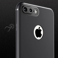 Jual Case Iphone 6/6s/6sP/6p/7/7plus With Protector Camera  Black Ready Murah