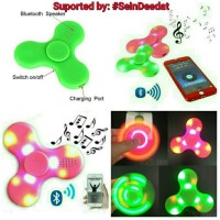 Promo  Fidget Spinner Bluetooth Speaker Musik Lampu Led Disco Spiner