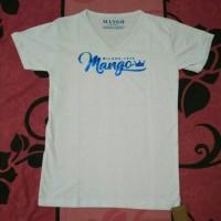 Jual Kaos / T'Shirt Letter Mango Foil Black and White Murah