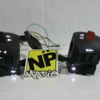 Jual saklar pulsar PNP NMAX tanpa potong kabel , bebas request warna LED Murah