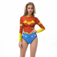 bodysuit wonder woman all size cosplay baju renang swimsuit fashion