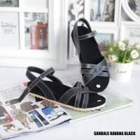 Promo Lebaran Sandal Ravana Wanita Trendy Warna Hitam