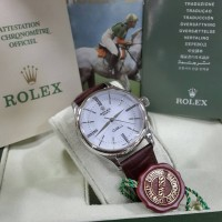 Jam Tangan Rolex Classic Cellini Time Brown Silver