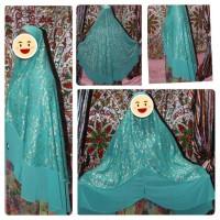 jilbab hijab syari brokat ori Qalisya real picture asli cantik