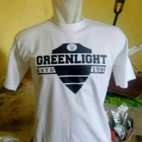 Kaos Pria Baju Tshirt T Shirt Keren Populer Trendy In Greenlight white