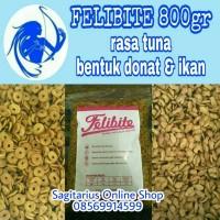Jual Felibite 800gr cat food (bentuk ikan & donat) Murah
