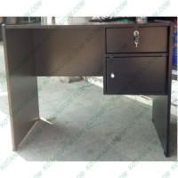 Meja laci lemari kantor kios kecil uk 80 cm kayu coklat hitam bandung