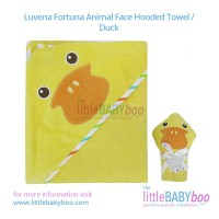 Luvena Fortuna Animal Face Hooded Towel / Duck