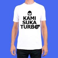 [BARU] Kaos Kami Suka Turbo (size XXL) Putih Hitam Motomobi TH