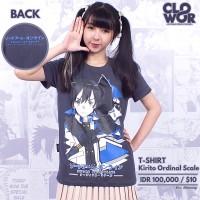 Kirito Ordinal Scale Anime Sword Art Online Kaos Tshirt Distro