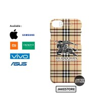 case iPhone 5 5s SE Burberry Logo Pattern hardcase casing cover