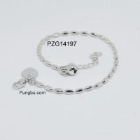 Gelang putih biji lada lonjong PZG14197