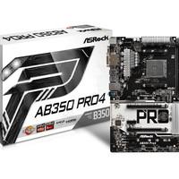 ASRock AB350 Pro 4 (AM4, AMD Promontory B350, DDR4, USB3.0, SATA3)