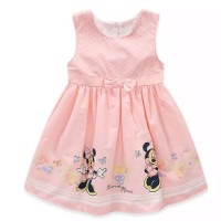 Jual (#C232) Minnie Mouse Sleeveless Dress with a Bow Dot. Murah