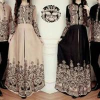 Baju Batik Couple Sarimbit Muslim Seragam Pakaian Wanita Gamis Modern