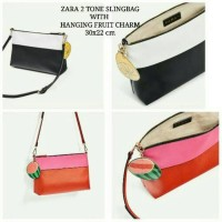 Jual Zara Slingbag 2 Tone with Hanging Fruit Charm Murah