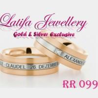 Cincin Kawin Tunangan Perak Couple Murah RR 099