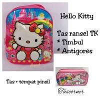 Jual Tas anak TK Hello Kitty timbul ransel mika tebal impor Murah