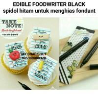 EDIBLE FOOD WRITER BLACK - SPIDOL MAKANAN HITAM - BOLPOINT MAKANAN