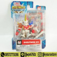 Mini Action Figure Digimon Fusion - Shoutmon X4