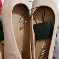 Flat shoes wanita rubi cotton on- primo point - blush /nude ori