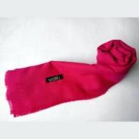 jilbab rawis merah rose segi empat polos