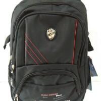 Tas ransel sekolah laptop hitam/Tas kerja laptop alto hitam import