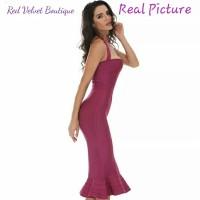 Jual Mermaid Bandage Evening Midi Halter Dress Party Premium Quality IMPORT Murah