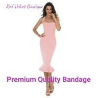 Jual Pink Bandage Evening Midi Dress Party Premium Quality IMPORT Murah