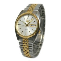 Jual Seiko 5 SNXJ90 Automatic White Dial Two-Tone Stainless Steel Murah