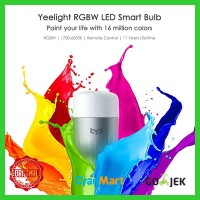Jual Xiaomi Mi YeeLight LED Bohlam Lampu Yee Light Color RGBW Original Asli Murah