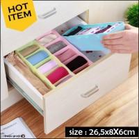 Jual Kotak Plastik 5 Sekat Laci untuk Bra Celana Kaos kaki Kosmetik (WN532) Murah
