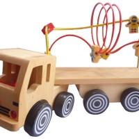 Mainan Kayu Edukatif Truk Alur Kawat Astro untuk Anak Usia 3-4 Tahun