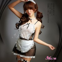 Jual TF Sexy Costume Cosplay Maid | Lingerie + Gstring + Acc Murah