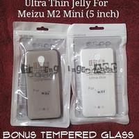 Jual PAKET 2 IN 1 Casing Back Case Cover Ultrathin Jelly Meizu M2 mini FREE Murah