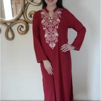 Baju wanita model kaftan long dress / maxi dress pakaian gamis muslim