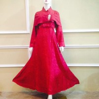 DRESS MUSLIM DENGAN CAPE MODERN DR013