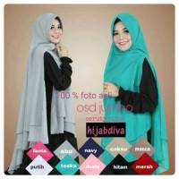 Jual khimar ceruti jumbo syari pet antem berkualitas cantik hijabdiva bdg Murah