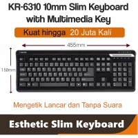 I-Rocks scissor Keyboard w/ multimedia button 20Juta kali ketik KR6310