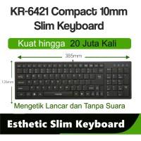 I-Rocks scissor Keyboard compact,Terrace keycap 20Jt kali ketik KR6421