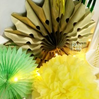 jual paket dekorasi lebaran diy ketupat garland / pompom