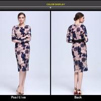 Jual DRESS PREMIUM - Embroidery Flowers Luxury Lace Dresses Murah