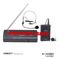 harga Mic Wireless Krezt K-2380 Clip On + Headset Tokopedia.com