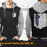 SNK Baseball Hoodie (Jaket Attack On Titan JA SNK 31)